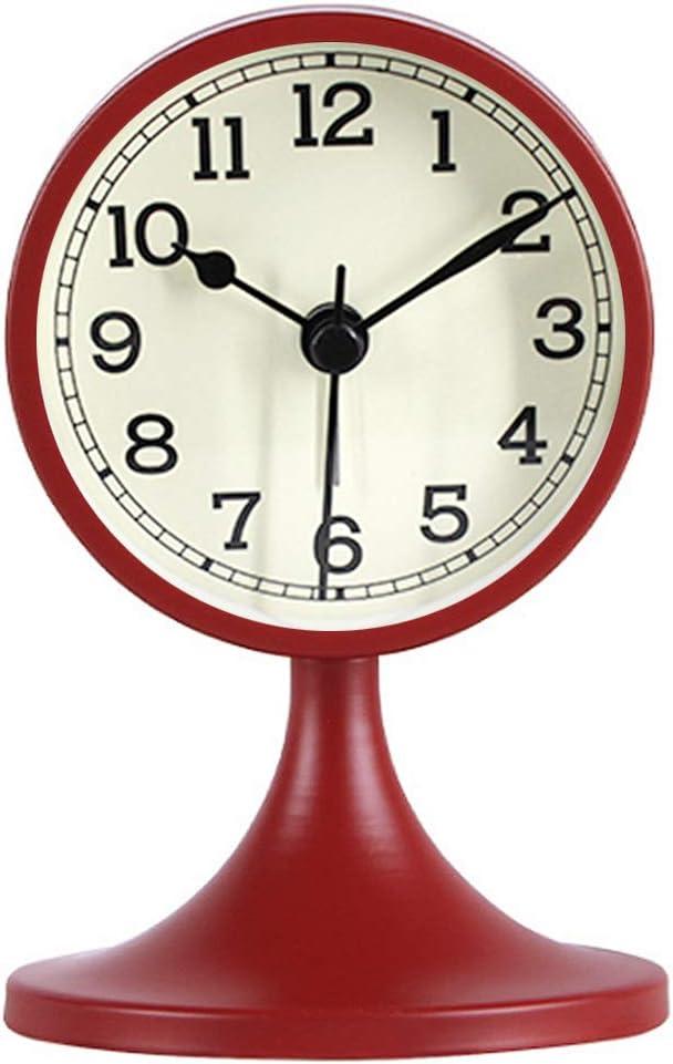 Lowest price famous challenge Queena Retro Round Silent Alarm Operat Battery Non-Ticking Clock
