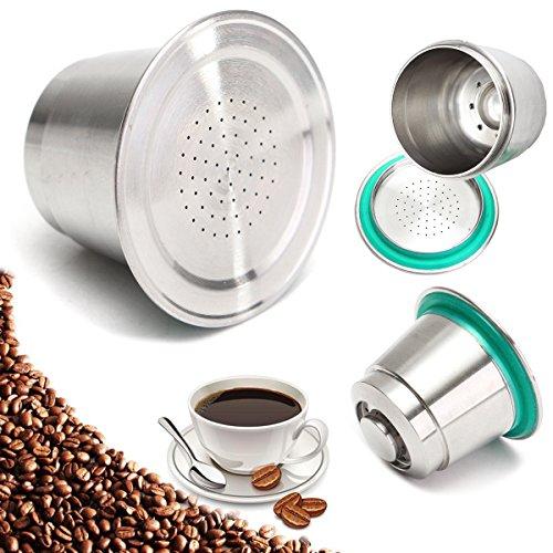 Tutoy Feinschliff Kaffeekapsel Tasse Edelstahl Wieder verwendbare nachfüllbar für Nespresso