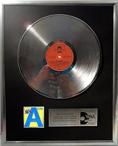 ABBA A wie ABBA platin Schallplatte (goldene Schallplatte)