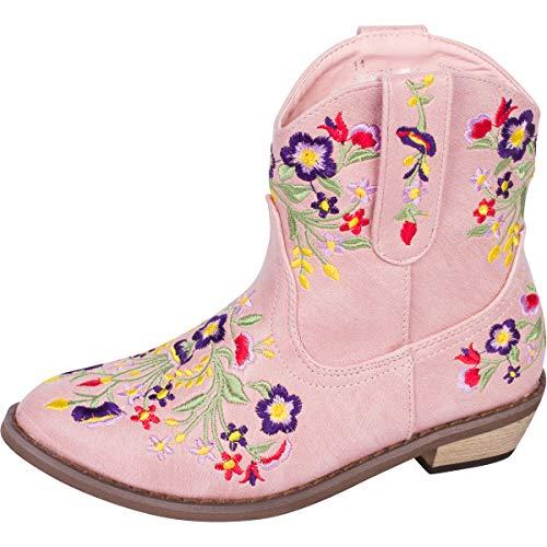 Mädchen Betseyville Reece Gestickte Cowboystiefel, Pink (rose), 22 EU