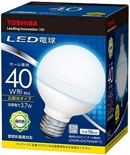 東芝 LED電球 ボール電球形 410lm(昼白色相当)TOSHIBA LDG4N-G/G70/40W-TC
