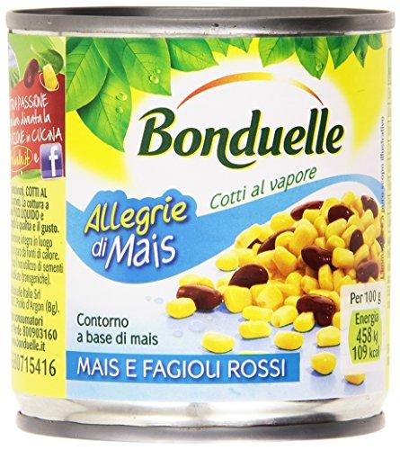 Bonduelle Mais e Fagioli Rossi, Cotti al Vapore -  3 x 170 gr