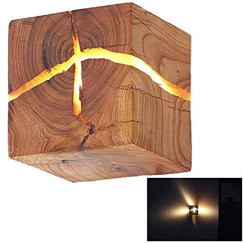 HOIHO Wooden Crack Split legno Lampade da parete originali in legno massiccio creativo led lampada da comodino corridoio luci decorative piccola luce notturna commerciale lampada da parete in legno
