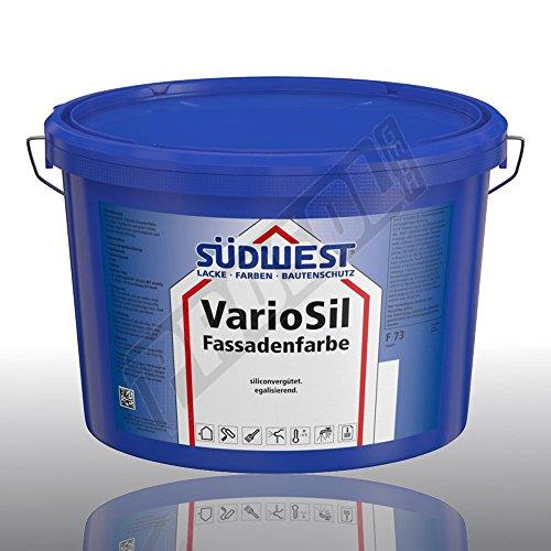 SÜDWEST VarioSil Fassadenfarbe F73 weiss 9110, 12,5L