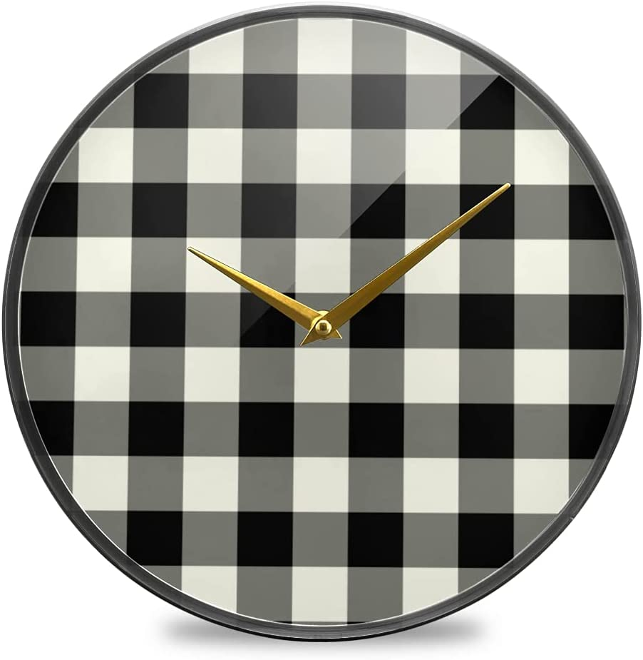 Wall Clock Round Creative Hanging Black and White Max High quality new 84% OFF Clocks Si