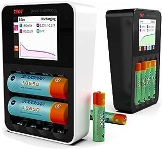 ThinkSmart ISDT C4 充放電器 ミニポケット スマート バッテリー 急速充放電器 1-6S Lipo 18650 バッテリー RCドローン クアッドコプター 電子タバコ (ホワイト)