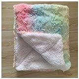 Manta de pelo sintético súper suave y larga, cálida, elegante, acogedora con manta mullida, adecuada para sofá o cama, siete colores