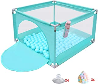 JXXDDQ Baby Playpen and Ball Pit Set Baby Play Yard Tents Infant Safety Fence for Indoor Baby & Toddler (Color : Green)