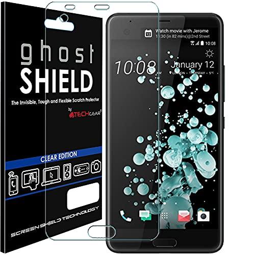 TECHGEAR Protection Écran pour HTC U Ultra [ghostSHIELD] Film de Protection Souple en TPU avec Protection Totale de l'Écran Compatible pour HTC U Ultra [Protection 3D Bords Incurvés]