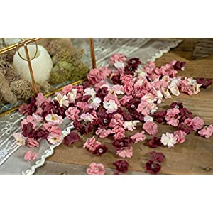 Wedding Sweetheart Table Decorations, Flower Confetti, Bridal Shower Decor, Floral Baby Shower Decorations, Burgundy, Rose and Blush