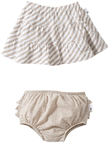 Burt's Bees Baby Baby Girls' Striped Skirt w/Diaper Cover (Baby) - Sand - 12 Months