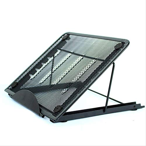Cvghnfk Soporte para portátil Laptop Stand Base Piso Plano Plegable Soporte de múltiples Funciones de la Tableta Soporte Rosa (Color : Black)
