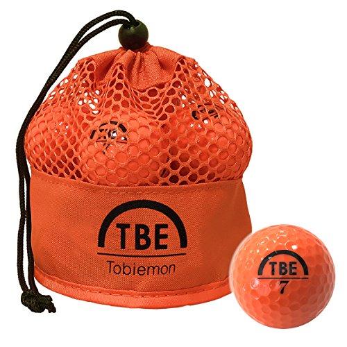 公認球 2ピース構造ゴルフボール オレンジ 12球(1ダース) メッシュバック入り TBM-2MBO