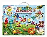 Jumbo Bastelkoffer mit 107 Teilen, riesige Auswahl an Bastelmaterialien für Kinder und Erwachsene