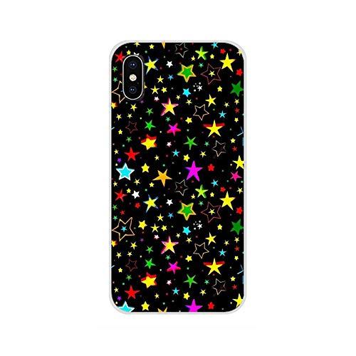 Accesorios Fundas de teléfono Fundas estrella colorida para iPhone X XR XS 11 12Pro MAX 4S 5C SE 2020 6S 7 8 Plus iPod 5 6-imágenes 9-Para iPhone X