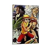 Lienzo de pared de pintura moderna para decoración del hogar, pintura abstracta, anime de una sola pieza. Luffy and Shanks Decoración moderna del hogar, 30 x 45 cm