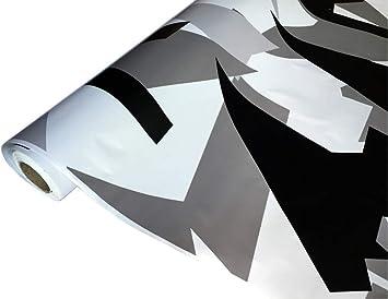 Folimac Self Adhesive Car Film With Air Channels 200 Cm X 152 Cm Camouflage Black White Grey Auto