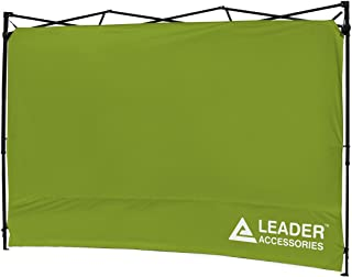 Leader Accessories Instant Canopy SunWall Side Wall for 10x10 Feet, 10x20 Feet Straight Leg pop up Canopy, 1 Pack Side Wall Only, Green