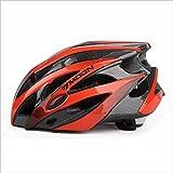 Casques d'équipement d'équitation un ensemble de casques de casque de vélo de montagne Casques de casque d'hommes et de femmes Casques de vélo de montagne ( Couleur : Noir et rouge )