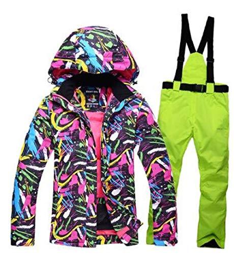 JSGJHXF Skipak dames snowboard pak jas waterdicht winddicht ademende thermische kleding winter dames