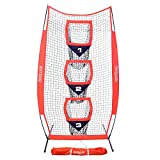 GoSports 8 x 4 Football Training Vertical Target Net, Improve QB Throwing Accuracy  Includes Foldable Bow Frame and Portable Carry Case