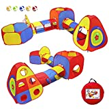 Yoobe Kids Play Tents Jungle Gym w/ Pop Up Tents, Tunnels, and Basketball Pit for Boys, Girls, Babies, and Toddlers with Carrying Case for Indoor & Outdoor Use (5 in 1)