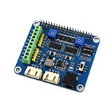 Waveshare Stepper Motor Hat for Raspberry Pi,Jetson Nano Onboard Dual DRV8825 Motor Controller Built-in Microstepping Indexer Drives Two Stepper Motors Up to 1/32 Microstepping