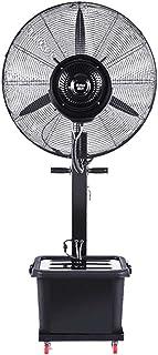 Ventilador industrial de 3 velocidades Eléctrico de alta resistencia de alta velocidad Montaje rápido Potente ventilador de pedestal, nebulizador de enfriamiento Humidificador de spray Atomización d