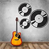 zqyjhkou Stickers muraux Amovibles Musique Art Musicien Record Decal Mural Disco Rétro Style Murale Murale Musique Studio Music Record Décor Ay905 57X49CM