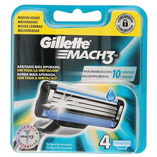 Gillette Mach 3Ersatz-Rasierapparat für Herren–4Pack