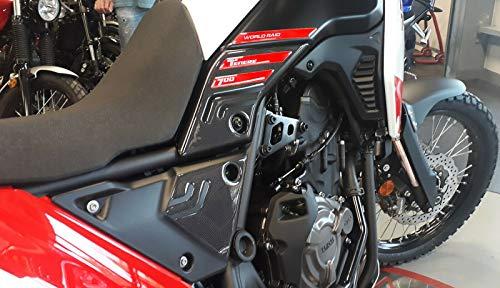 Protector de Dep/ósito Resina 3d Protecci/ón Compatible para Moto Benelli Trk 502 Blanco
