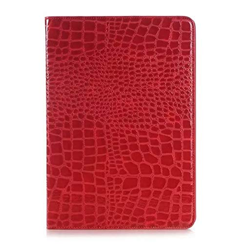 chenyuying Crocodile Leather Flip Stand Light-Weight Tablet Case Cover Compatible with Samsung Galaxy Tab A 9.7 (2015) SM-T550/T555. (Color : Red)