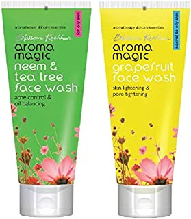 Aroma Magic Neem And Tea Tree Face Wash, 100ml and Aroma Magic Grapefruit Face Wash, 100ml