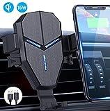 Qi Cargador Inalámbrico Coche,Avolare Carga Rápida Soporte Móvil Automático 15W LG,10W Samsung...
