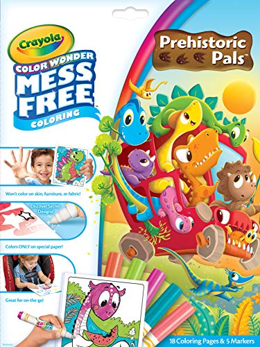 Crayola Color Wonder Prehistoric Pals Specialty Markers and Paper, Multi