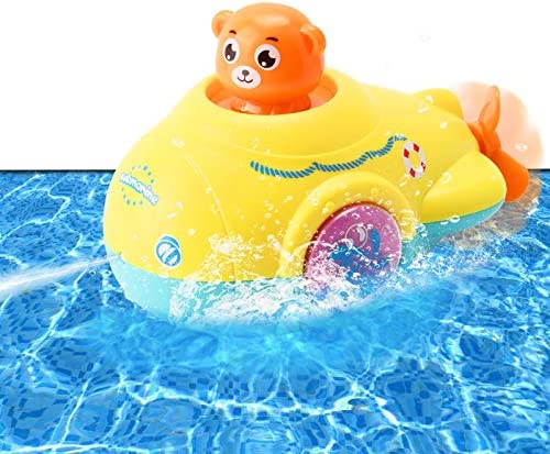 Tokey Life Bath Toy Water Jet Submarine Toy Wind Up Squirts with Propeller for Kids Sensory product image