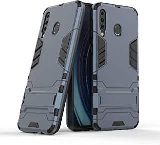 FanTing Case for vivo S1, Rugged and shockproof,with mobile phone holder, Cover for vivo S1-Dark Blue