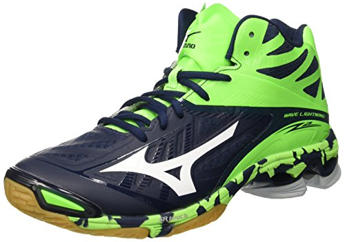 Mizuno Herren Wave Lightning Z2 Mid Volleyballschuhe Blau (Dressblues/White/Greengecko) 46.5 EU