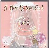 Belly Button Designs hochwertige Glückwunschkarte zur Geburt eines Mädchen, ideal auch für Geldgeschenk oder Gutschein. BE185