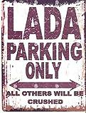 Froy Lada Parking Only Wand Blechschild Retro Eisen Poster
