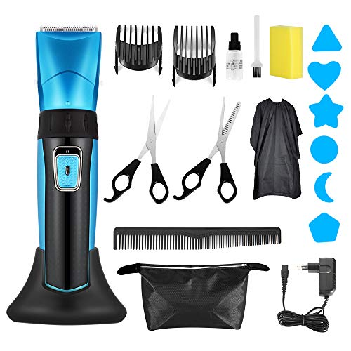 Hair Clippers for Men Deertrip Professional Cordless Hair Clippers Hair Trimmer for Man Rechargeble Haircutting Kit with Ceramic Blade Quick Charge Mens Hair Clippers for Family Use (Black)113