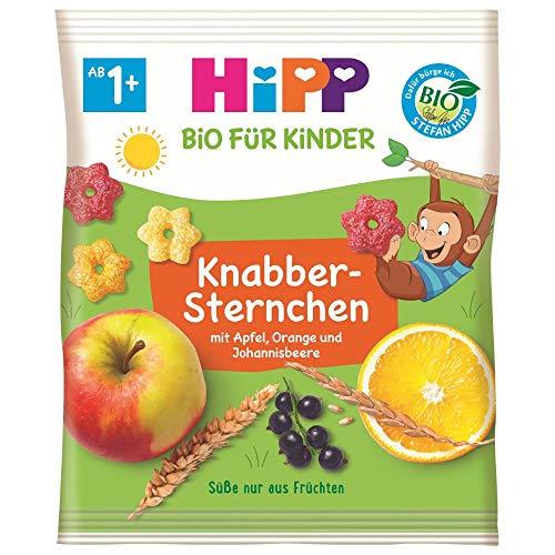 Hipp Knabberprodukte, Knabber Sternchen mit Apfel, Orange und Johannisbeere, 9er Pack (9 x 30 g)