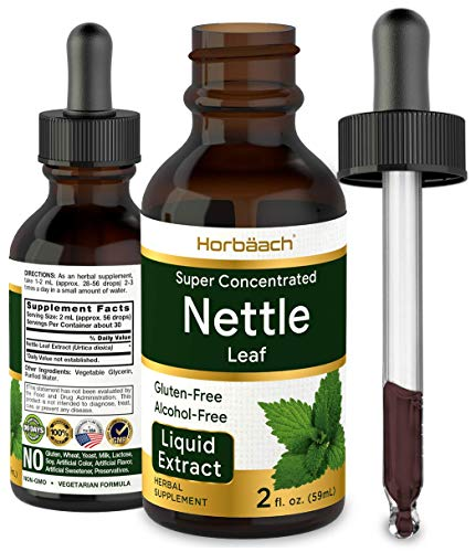 Stinging Nettle Leaf Extract | 2 oz | Alcohol Free | Vegetarian, Non-GMO, Gluten Free Tincture | by Horbaach