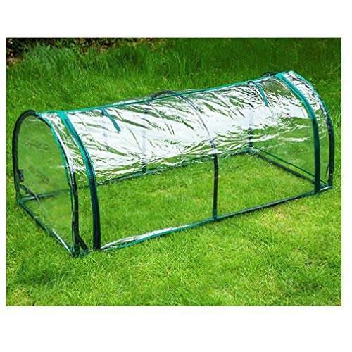 QI-CHE-YI Greenhouse, Portable PVC, Suitable for Outdoor, Observation Window, Green Plant Cultivation,Clear