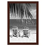 Americanflat 13x19 Poster Frame in Mahogany - Composite Wood with Shatter Resistant Glass - Wall Mounted Horizontal and Vertical Formats