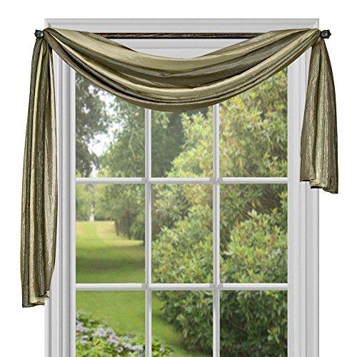 "Achim Home Furnishings Ombre Window Curtain Scarf, 50"" x 144"", Sage"