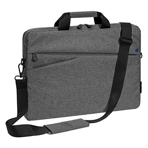 Pedea Laptoptasche Fashion Notebook-Tasche bis 15,6 Zoll (39,6 cm) Umhängetasche mit Schultergurt, grau/blau