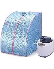 YJIIJY Sauna Tent Box Draagbare Home Spa, Stoomsauna Voor Persoonlijke Spa Body Heater Ontgiften Afvallen 99 x 88 x 76 cm (Blauw)
