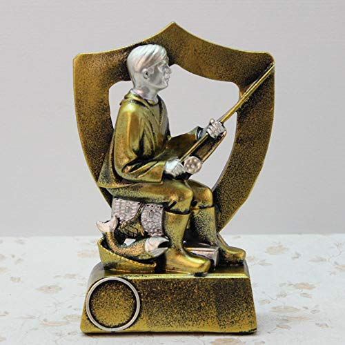 Axiba Axiba Sport hars ambachten gouden trofee engel hars ornamenten 11 * 4,5 * 16,5 cm
