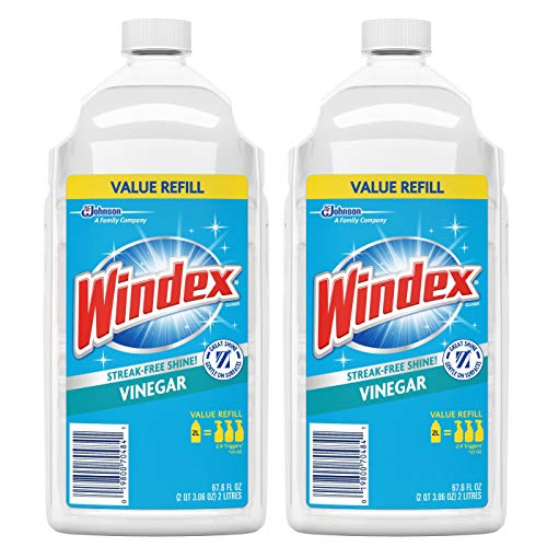 Windex Vinegar Glass Cleaner With Refill, 2 Liter, 67.6 Ounce (2 Pack)